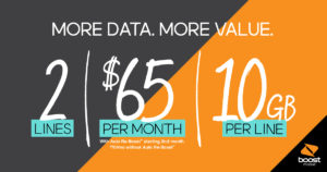 We're making your day. Now get more data and more lines for less each month. See in-store for details.